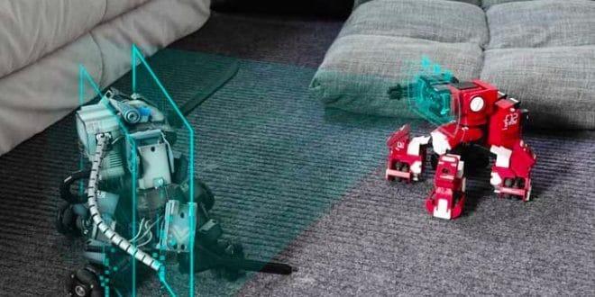 GEIO : un robot de combat qui explose les objectifs sur Kickstarter