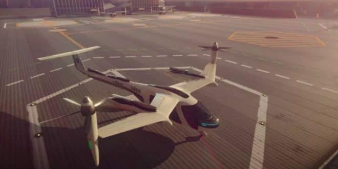 Uber elevate voiture volante voiture autonome