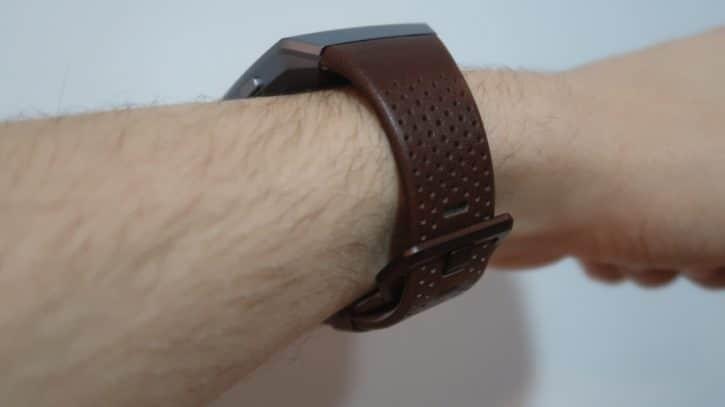 fitbit ionic bracelet cognac