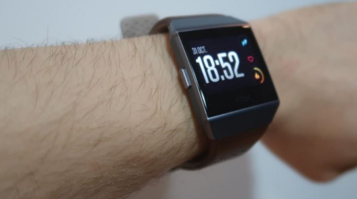 fitbit ionic face heure