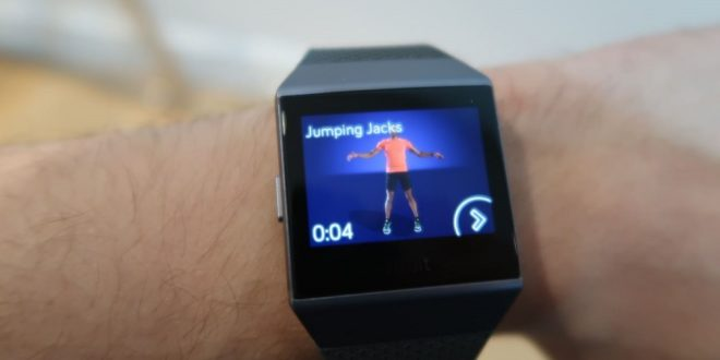 fitbit ionic jumping jacks