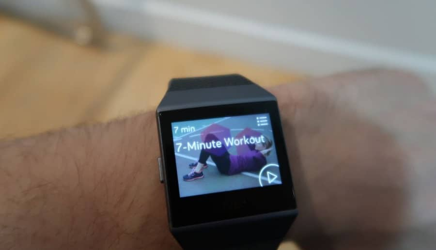 fitbit ionic work out