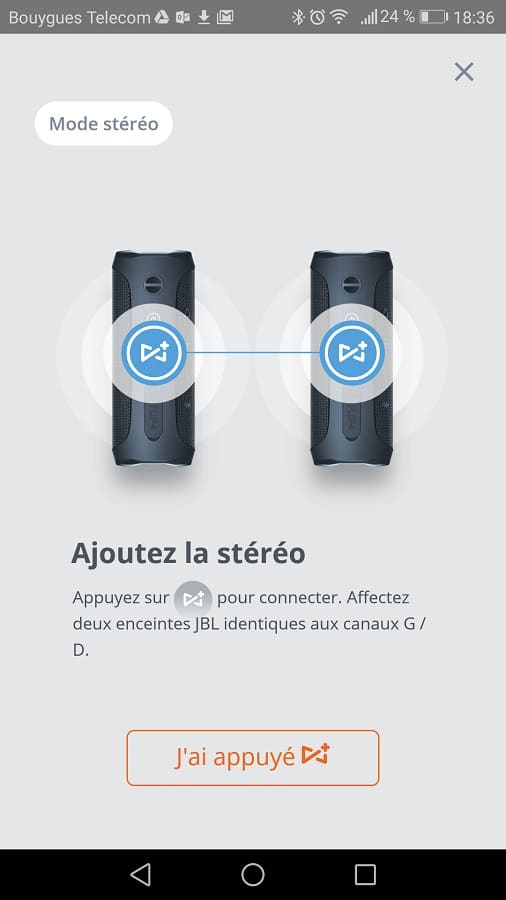 jbl pulse 3 application stereo