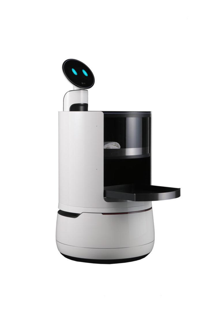 LG, LG CLOi Porter Robot, robot, hôtels, LG CLOi Servant Robot, LG CLOi Shopping Cart Robot