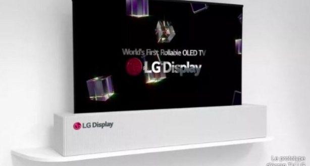 LG écran qui s'enroule