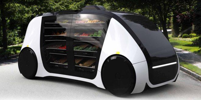 Robomart, véhicule autonome, fruits et légumes, épicerie, CES 2018