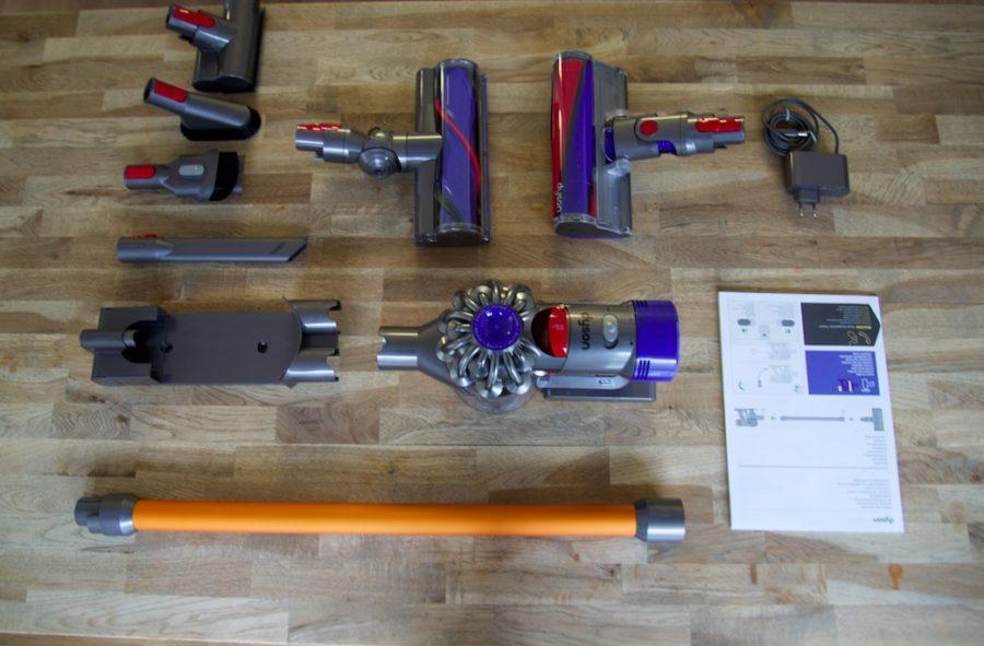 aspirateur dyson v8, unboxing et test