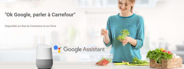 Assistant connecté Léa de Carrefour et Google