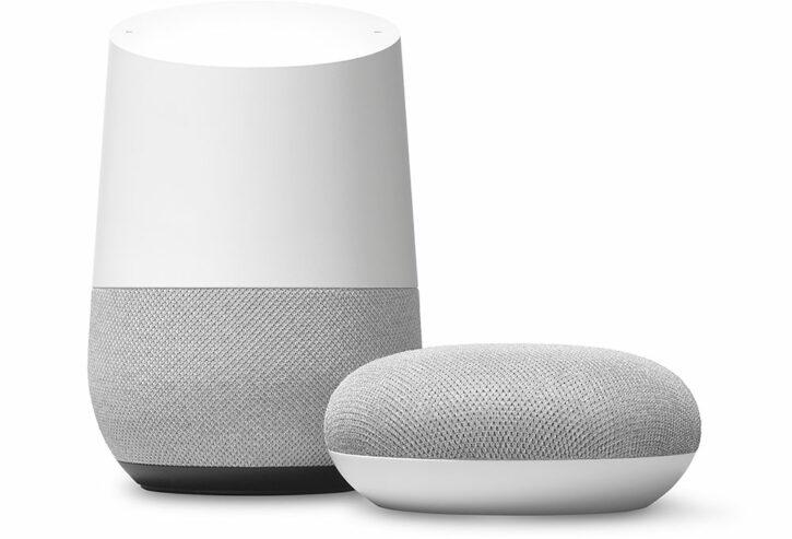 enceintes connectées Google Home et Google Home Mini