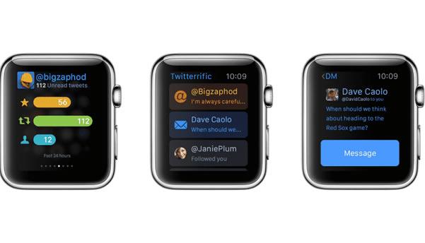 Twitterific 5 meilleures applications Apple Watch