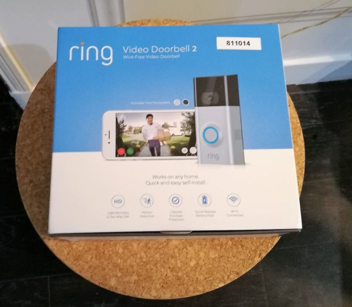 Unboxing du Ring video Doorbell 2