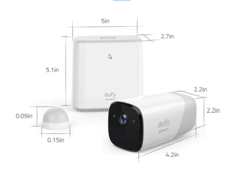 camera eufy spec technique