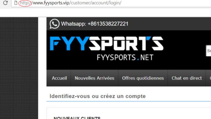 FYYgames.net site pas sécurisé