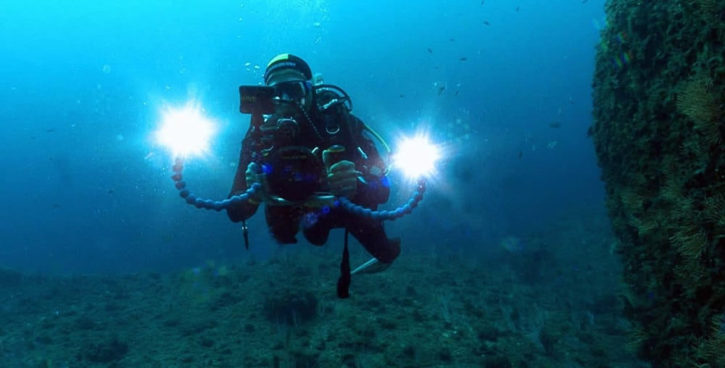 Boîtier Vuze sous-marin vidéos à 360 degrés sous l'eau