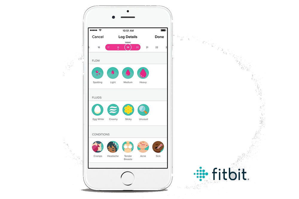 Fitbit suivi de cycle menstruel
