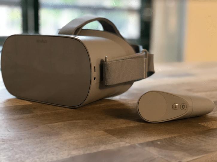 oculus go casque vue face