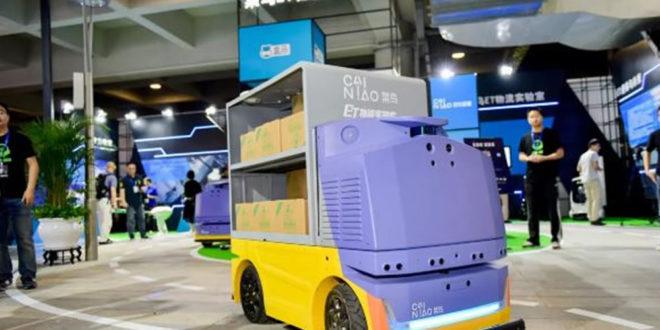 Alibaba robots autonomes livraisons entrepôts