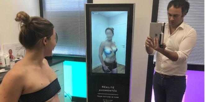 Poitrine miroir réalité augmentée avant opération