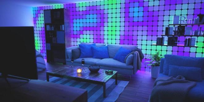 Canvas éclairage connecté modulaire et tactile