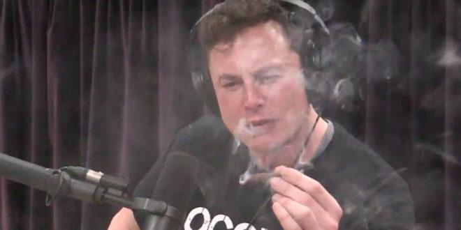 Elon Musk défoncé joint whisky interview avions électriques