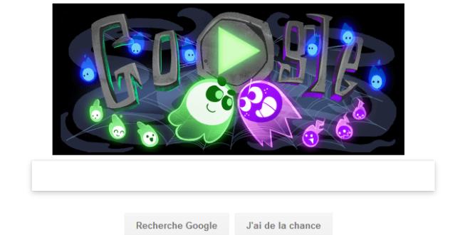 Google doodle, le nouveau jeu interactif spécial halloween de Google