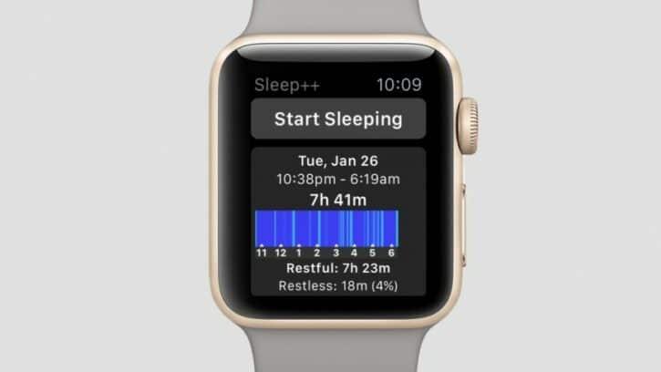 application de sommeil pour apple watch sleep++