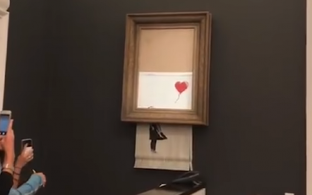 banksy autodestruction valeur