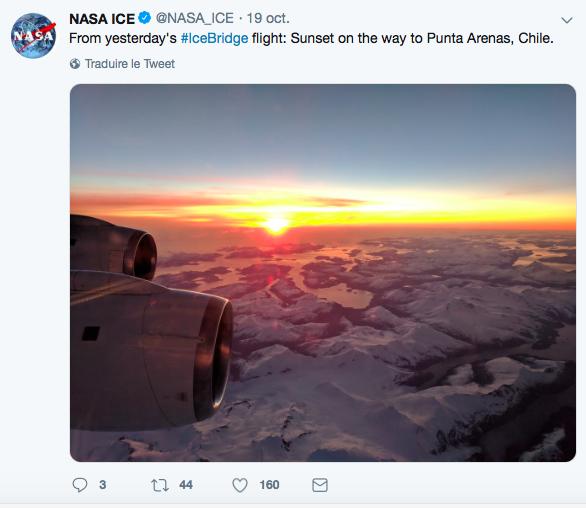 iceberg carré trouvé en antarctique par la NASA