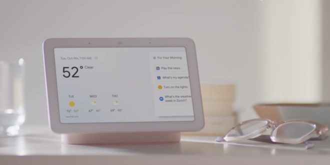 google home hub officiel