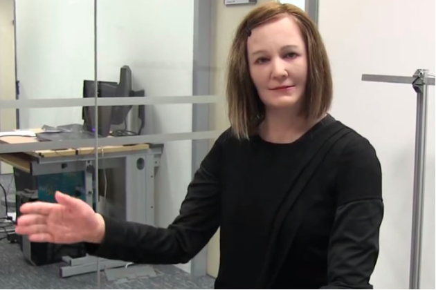 robots effrayants, nadine la receptionniste