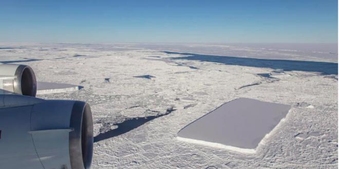 la nasa découvre un iceberg carré