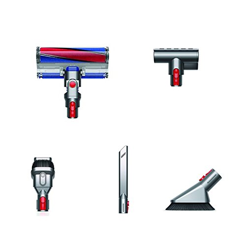 les différentes têtes de l'aspirateur dyson v7 en promo chez darty