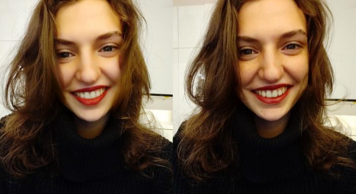 OnePlus 6T retouche faciale