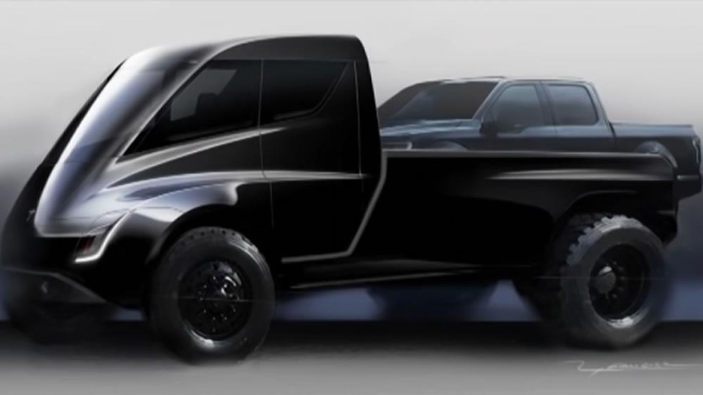 Pickup Tesla cyberpunk Blade Runner
