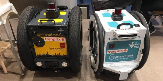 Robot livreur de courses Franprix