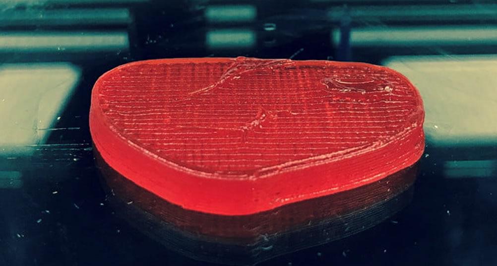 Steak imprime en 3D viande végétale