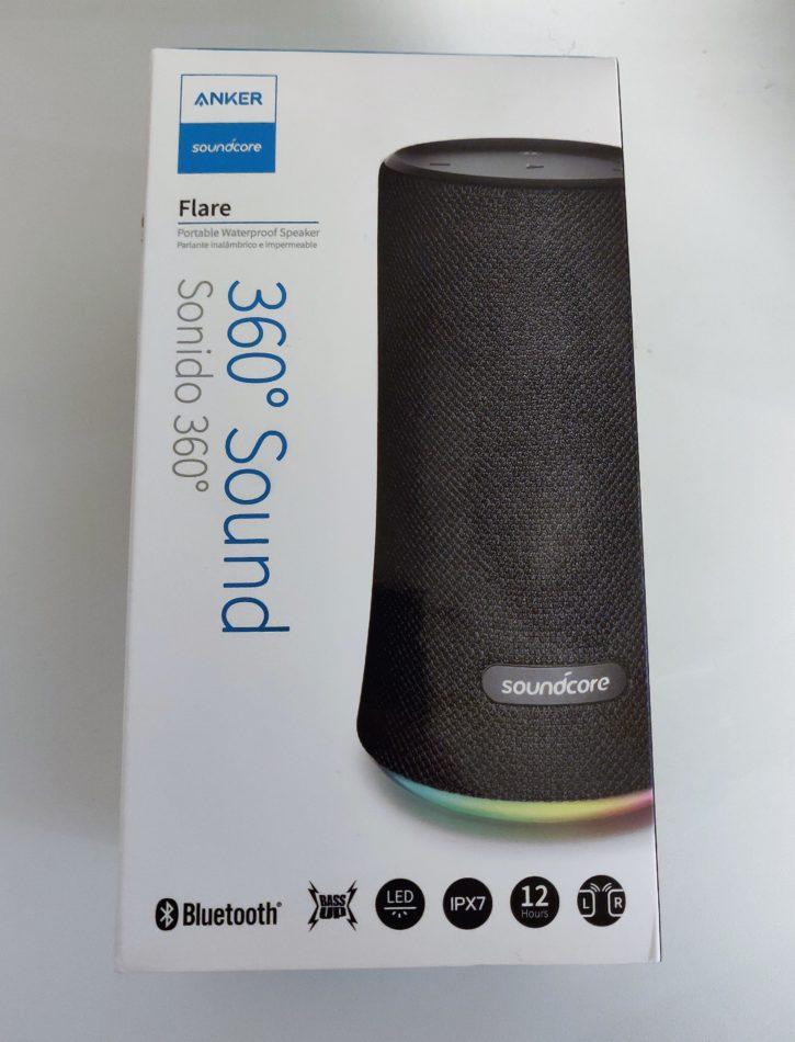 Boîte de la SoundCore Flare