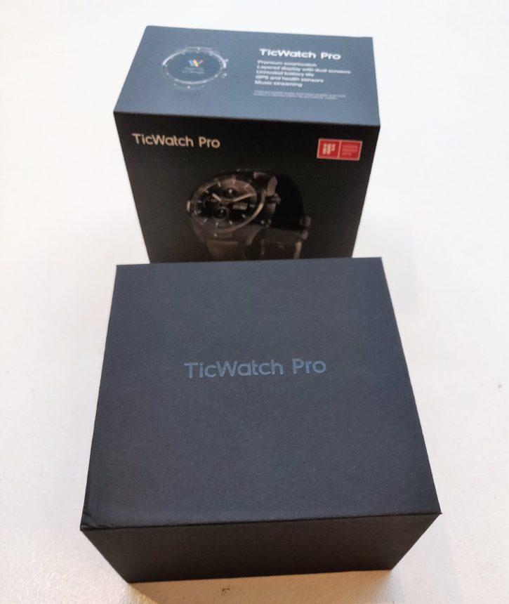 unboxing de la ticWatch pro