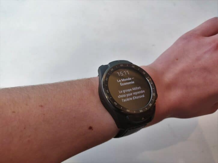 notifactions de la ticWatch
