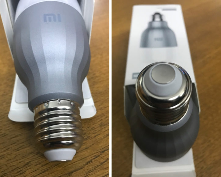La Xiaomi Mi Led Smart Bulb à la sortie de son emballage