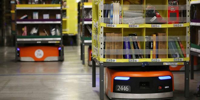 Robot entrepôt Amazon accident