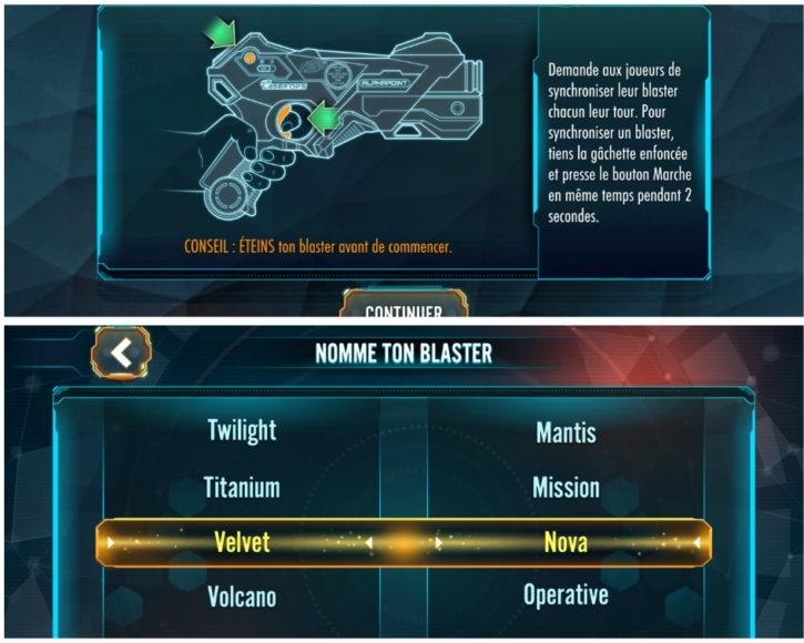 choisir le nom de son blaster et l'activer