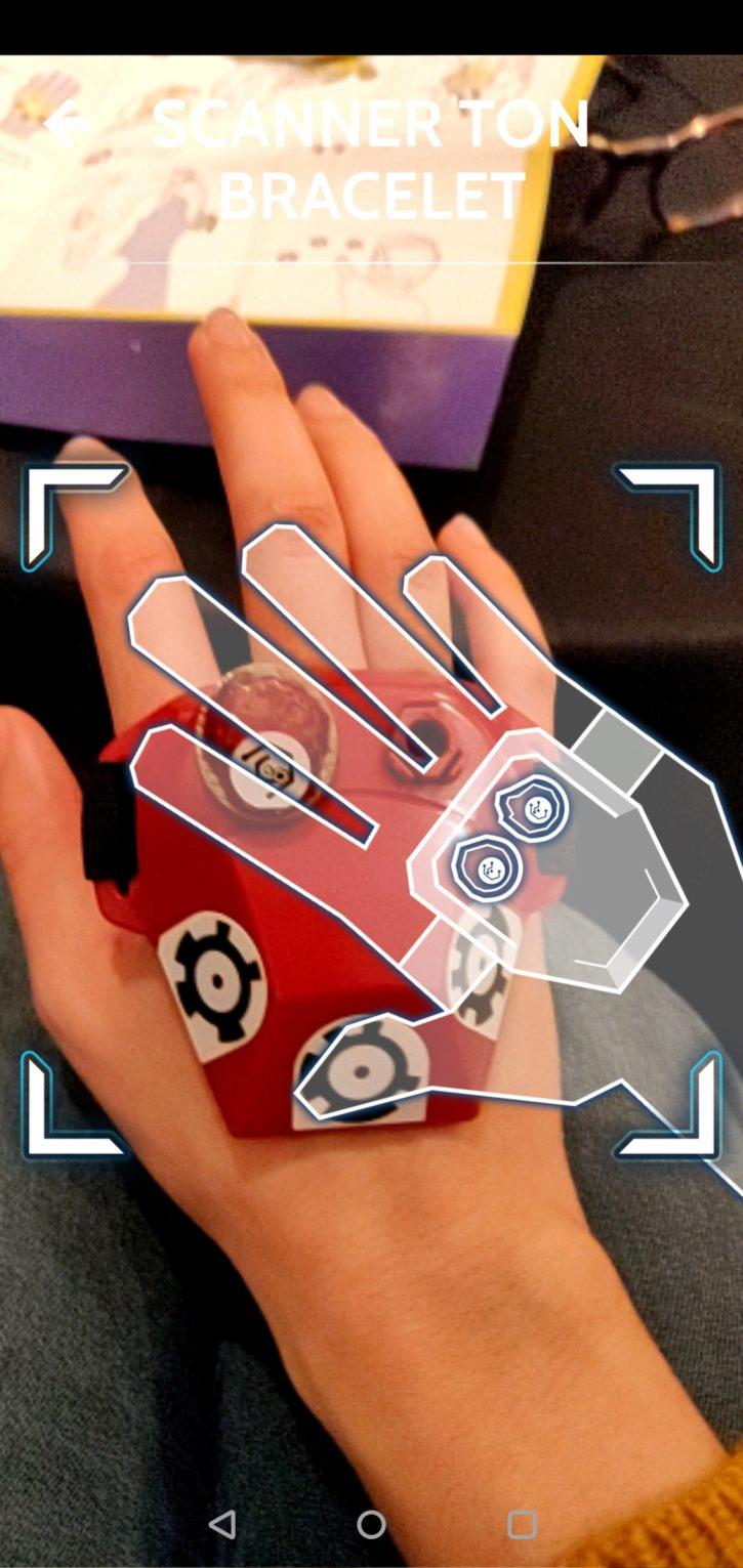 scan du gant pour commencer à jouer