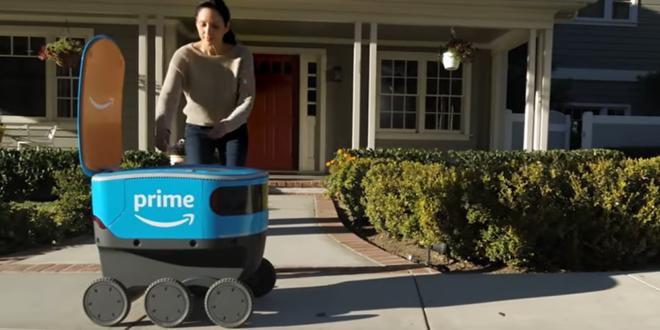 Amazon Scoot test robots livraison