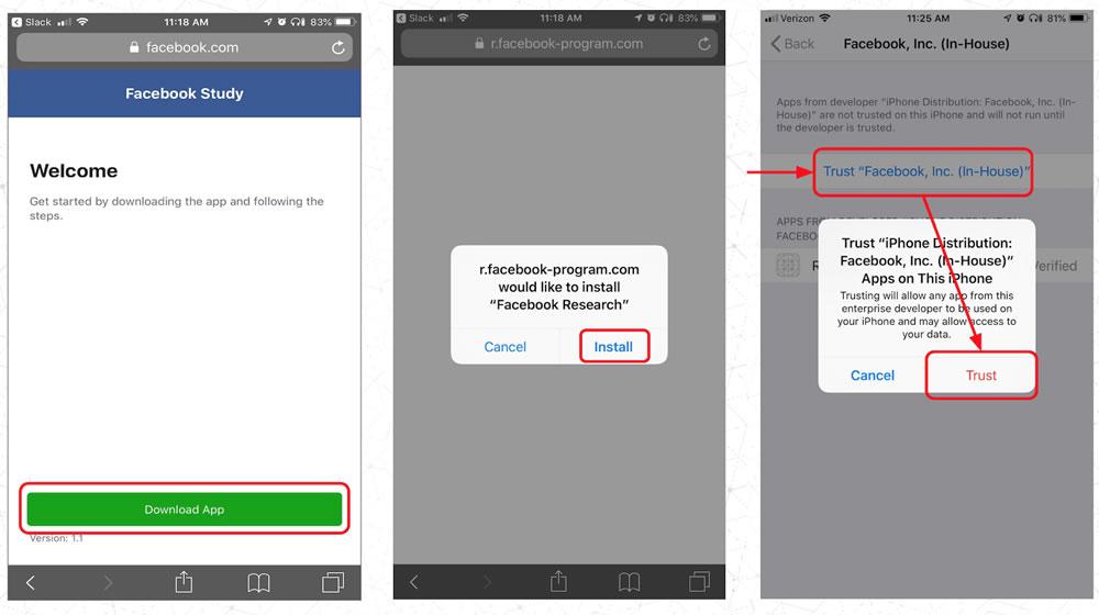 Facebook paie adolescents collecte données intimes téléphone