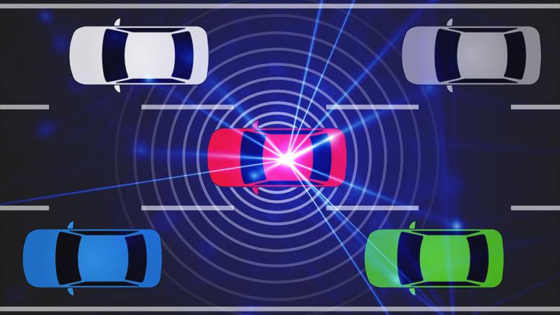Laser voirures autonomes capteur photo brûlé