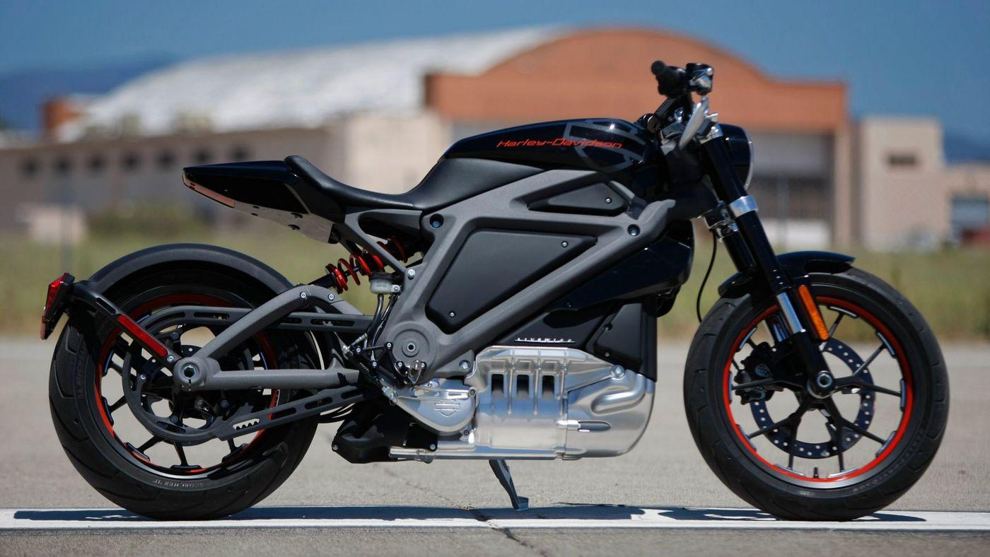 Moto électrique Harley Davidson connectée