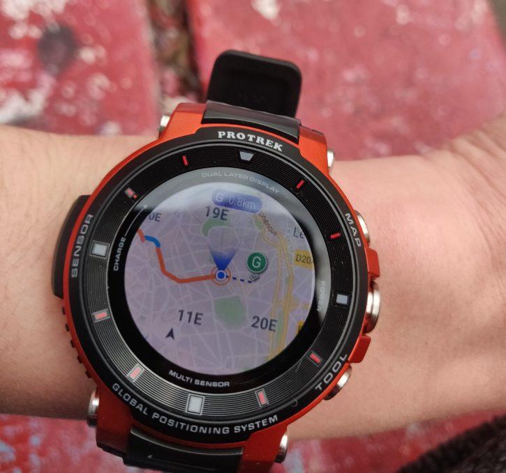 Cartographie de la Casio pro treck Smart