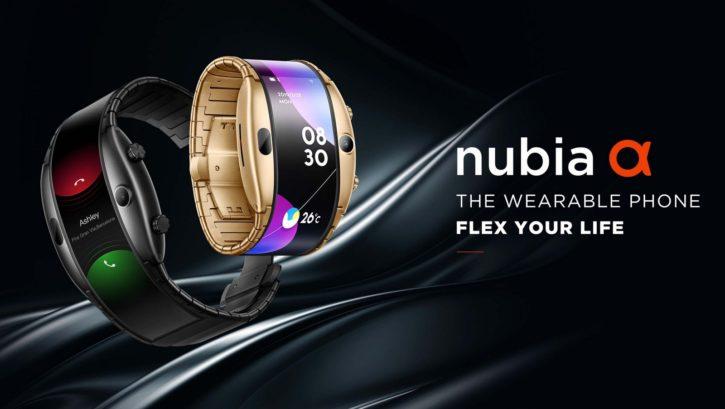 Image promotionnelle de la montre connectée Nubia Alpha.