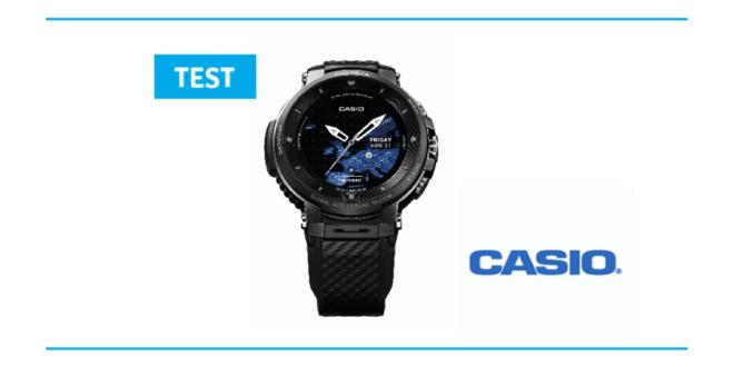 test de La Casio Pro Treck Smart une montre pour les randonnée